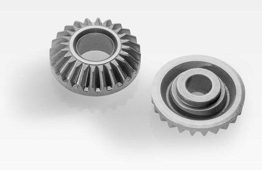 Bevel gears for servo drives for light domes, solar units, desks