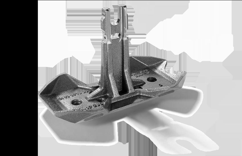 Dritte Schiene Gussschleifstueck mit integrierter Sollbruchstelle für konventionelle Stromschienen aus Stahl