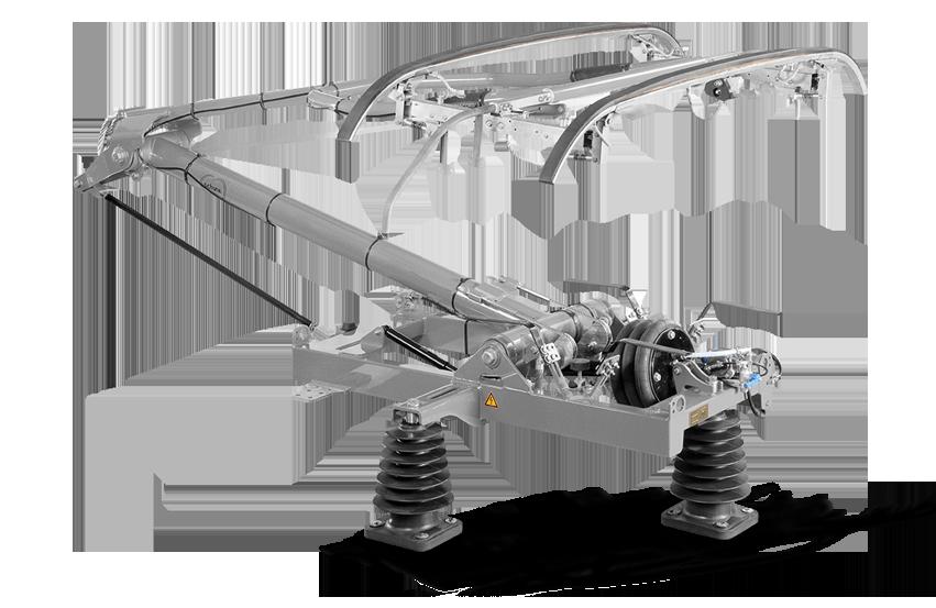 Pantograph for heavy rail