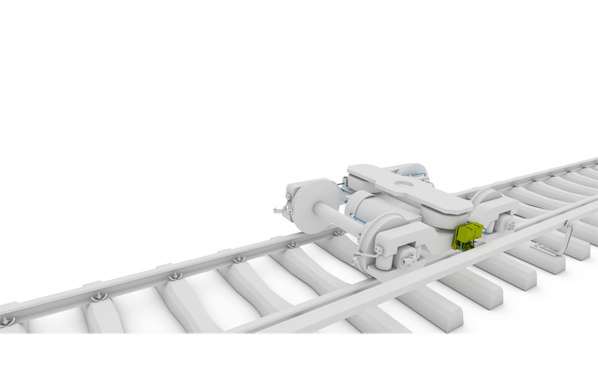 Third rail pantograph from Schunk Transit Systems on the rail